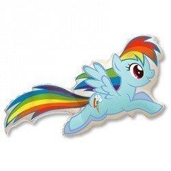 Шар фигура Пони голубая