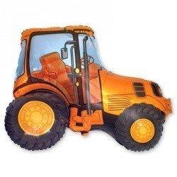 Шар фигура Трактор оранжевый