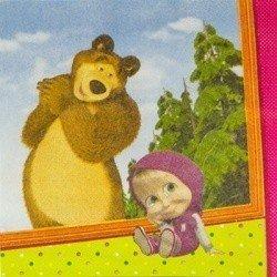 Салфетки Маша и Медведь, 25 см, 12 штук