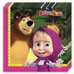 Салфетки Маша и Медведь, 20 штук