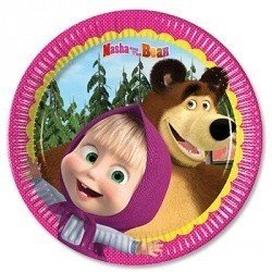 Тарелки малые Маша и Медведь, 8 штук