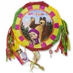 Пиньята Маша и Медведь с лентами складн.
