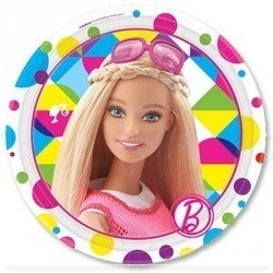 Тарелки малые Барби, 8 штук