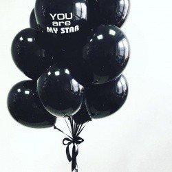 Букет из черных шаров 25 шт