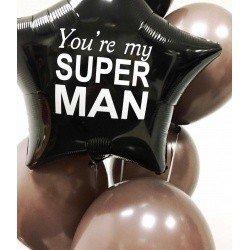 Букет из шаров для мужчины My Super Man