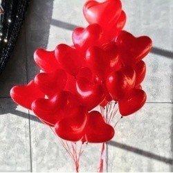 Букет из шаров Пламенное Сердце 100 шт