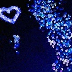 Святящиеся шарики Сердце и Млечный Путь