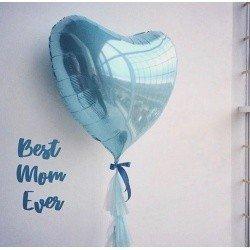 Нежное Сердце голубое