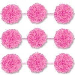 Гирлянда-помпоны Ярко-розовые, 2 штуки