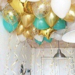 Шарики под потолок Золото Тиффани 100 шт