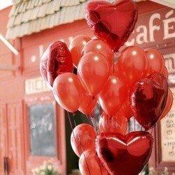 Букет из шаров  Алое сердце