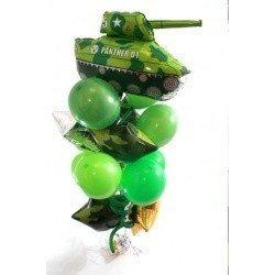 Букет из шаров танкист