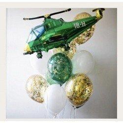 Букет из шаров Зелёный вертолёт