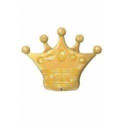 Шар фигура Корона золотая