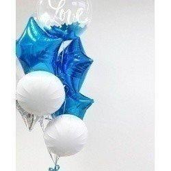 Букет из шаров Синяя любовь