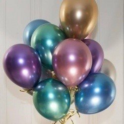 Латексные шары «Хром»