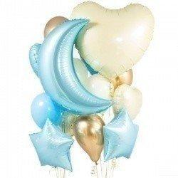 Букет из шаров BABY BLUE