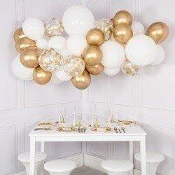 Гирлянда из шаров «Белое золото»