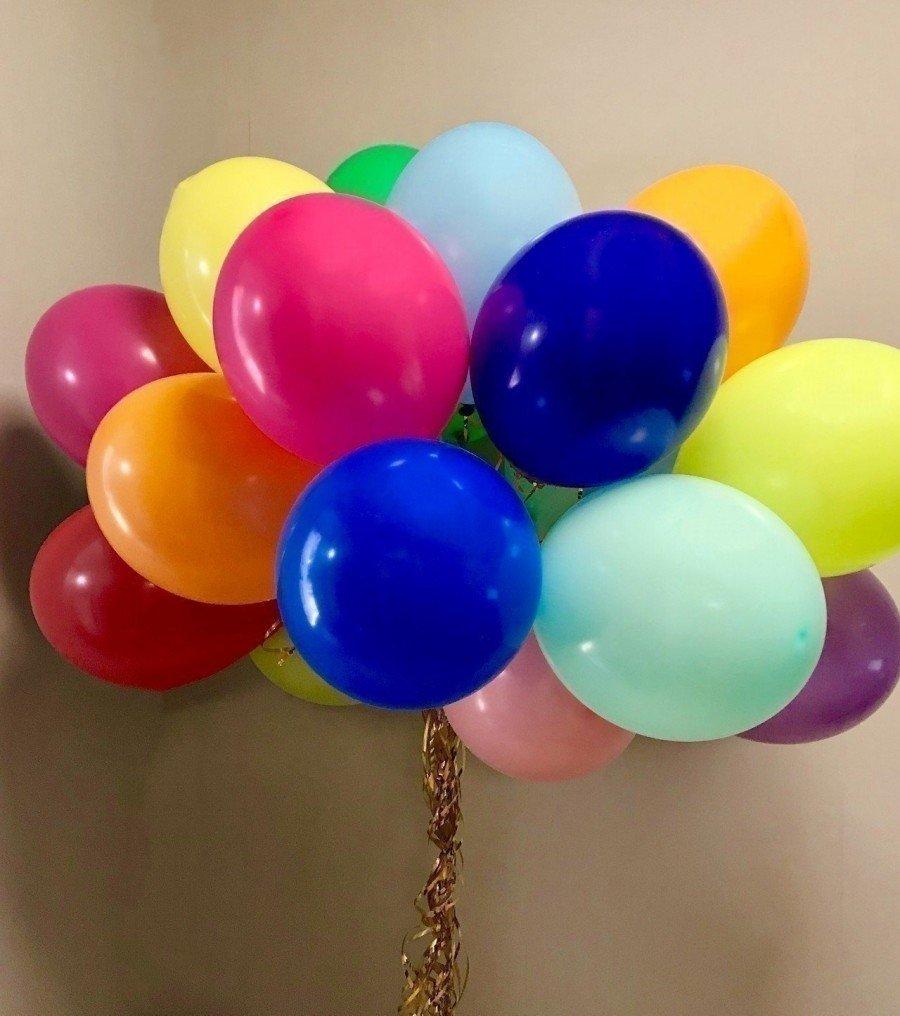 Облако шаров Ассорти большие 15 шт