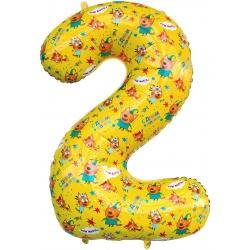 Шар фигура цифра 2 Три Кота