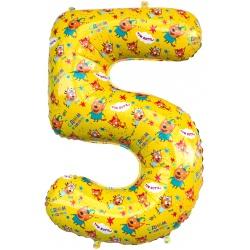 Шар фигура цифра 5 Три Кота